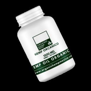 CBD Full Spectrum Cápsulas Softgel Organic Hemp México 1500mg 30pz cannatlan
