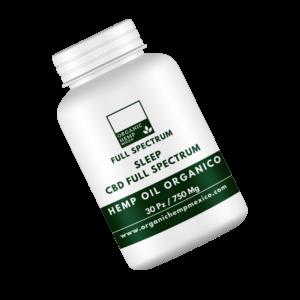 Cápsulas de CBD + Valeriana Sleep Organic Hemp México Full Spectrum 750mg 30pz cannatlan