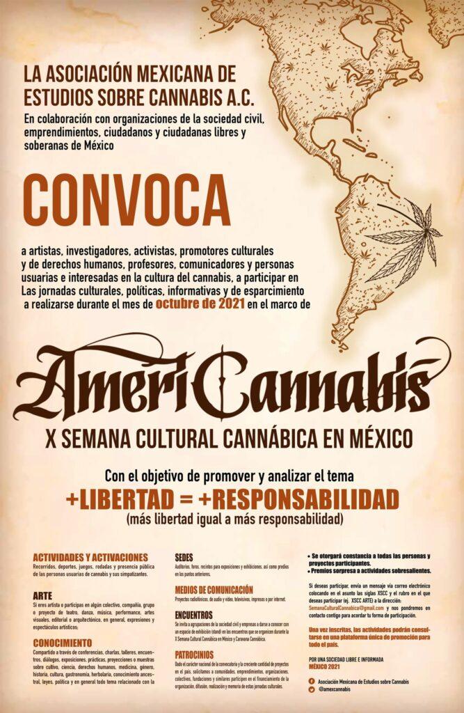 AMERICANNABIS 2021 X SEMANA CULTURAL CANNÁBICA EN MÉXICO cannatlan
